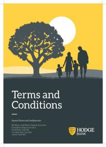 Terms and Conditions. General Terms and Conditions for: