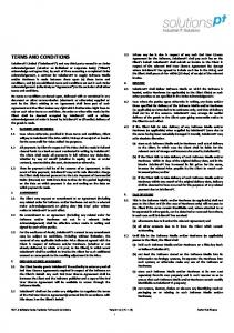 TERMS AND CONDITIONS SolutionsPT Client Agreement