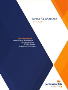 Terms & Conditions 1st June Terms & Conditions General Terms & Conditions Current Accounts OPEN24 Service Savings and Investments