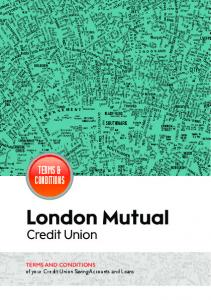 TERMS & CONDITIONS. TERMS AND CONDITIONS of your Credit Union Saving Accounts and Loans