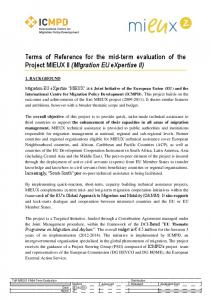 Terms of Reference for the mid-term evaluation of the Project MIEUX II (MIgration EU expertise II)