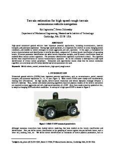 Terrain estimation for high-speed rough-terrain autonomous vehicle navigation