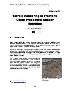 Terrain Rendering in Frostbite Using Procedural Shader Splatting