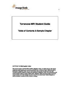 Terranova-MRI Student Guide