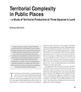 Territoriality can be defined as a spatially delimited