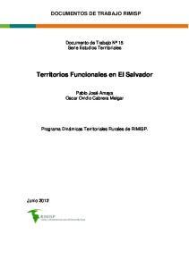 Territorios Funcionales en El Salvador
