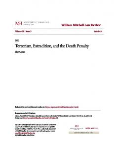 Terrorism, Extradition, and the Death Penalty