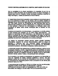 TERVER VENTRICULOSTOMIA EN EL HOSPITAL SANTA SOFIA DE CALDAS