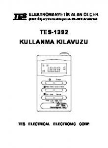 TES-1392 KULLANMA KILAVUZU