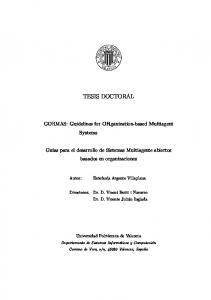 TESIS DOCTORAL. GORMAS: Guidelines for ORganization-based Multiagent Systems