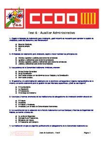 Test 6 - Auxiliar Administrativo