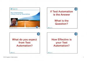 Test Automation: A Story Lost in Translation