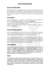 TEST DE CAPACIDAD VERBAL