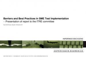 Test Implementation Presentation of report to the ITRE committee