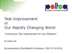 Test Improvement in Our Rapidly Changing World