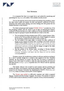 TEST METHODS. Physico-chemical characteristics Slip resistance 1 Test methods