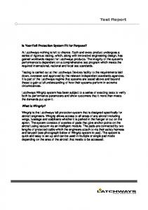 Test Report. Is Your Fall Protection System Fit for Purpose?