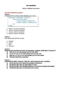 Test z przedmiotu. Witryny i aplikacje internetowe