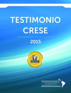 TESTIMONIO CRESE 2015