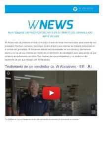 Testimonio de un vendedor de W Abrasives - EE. UU