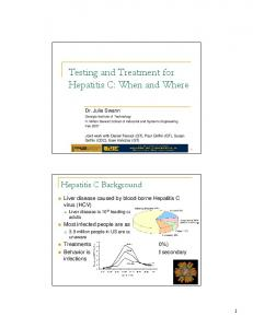 Testing and Treatment for Hepatitis C: When and Where