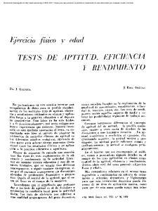 TESTS DE APTITUD, EEJCIENCIA Y RENDIMIENTO
