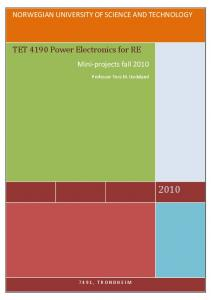 TET 4190 Power Electronics for RE