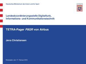 TETRA-Pager P8GR von Airbus