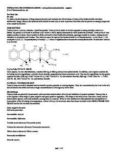 TETRACYCLINE HYDROCHLORIDE - tetracycline hydrochloride capsule IVAX Pharmaceuticals, Inc
