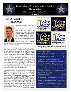 Texas Jazz Educators Association Newsletter