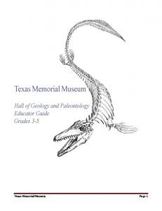 Texas Memorial Museum Page 1