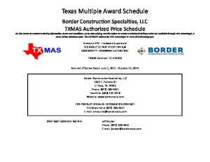 Texas Multiple Award Schedule
