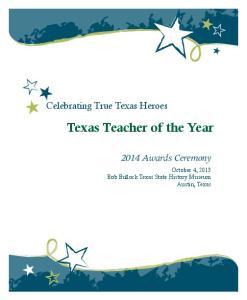 Texas Teacher of the Year