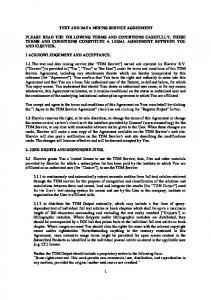 TEXT AND DATA MINING SERVICE AGREEMENT
