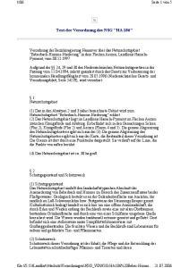 Text der Verordnung des NSG