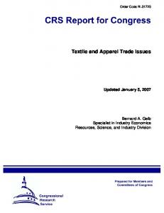Textile and Apparel Trade Issues