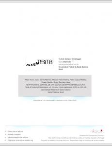 Texto & Contexto Enfermagem ISSN: Universidade Federal de Santa Catarina Brasil