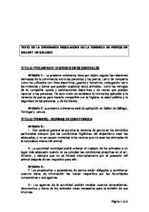 TEXTO DE LA ORDENANZA REGULADORA DE LA TENENCIA DE PERROS EN SALLENT DE GALLEGO