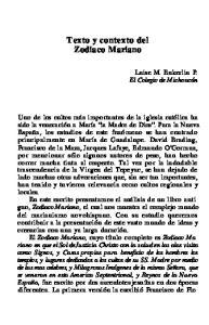 Texto y contexto del Zodiaco Mariano