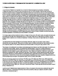 TEXTOS DE APOYO PARA EL PROGRAMA MITOS Y REALIDADES DE LA NAVIDAD 23 dic 2010