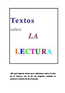Textos LECTURA. sobre LA