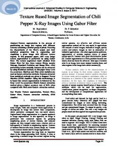 Texture Based Image Segmentation of Chili Pepper X-Ray Images Using Gabor Filter