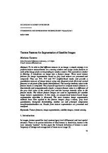 Texture Features for Segmentation of Satellite Images