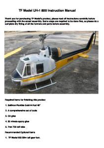 TF Model UH Instruction Manual