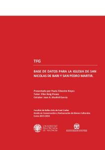 TFG BASE DE DATOS PARA LA IGLESIA DE SAN NICOLAS DE BARI Y SAN PEDRO MARTIR