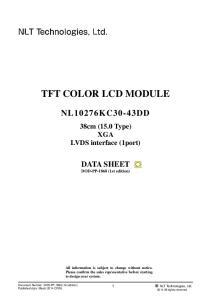 TFT COLOR LCD MODULE