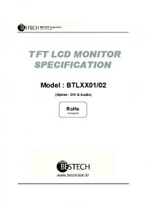 TFT LCD MONITOR SPECIFICATION