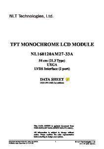 TFT MONOCHROME LCD MODULE