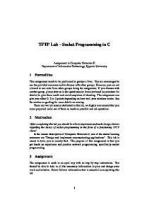 TFTP Lab Socket Programming in C