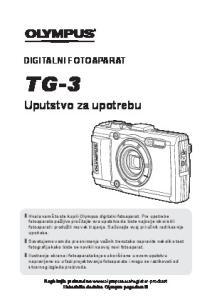TG-3. Uputstvo za upotrebu DIGITALNI FOTOAPARAT